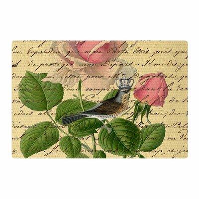 Suzanne Carter Vintage Dream Floral Script Beige/Green/Pink Area Rug Rug Size: 2 x 3