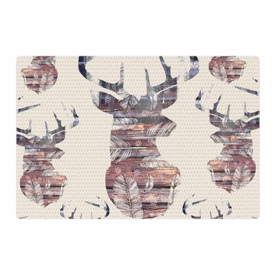 Suzanne Carter Wild and Free 2 Beige/Brown Area Rug Rug Size: 2 x 3