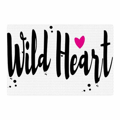 Suzanne Carter Wild Heart 2 Digital Black/White Area Rug Rug Size: 2 x 3