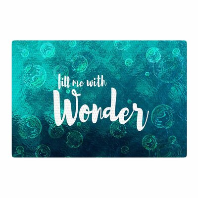 Suzanne Carter Wonder 2 Teal/White Area Rug Rug Size: 4 x 6