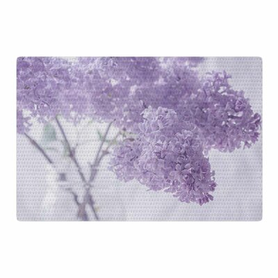 Suzanne Harford Lilacs Floral Purple Area Rug Rug Size: 2 x 3