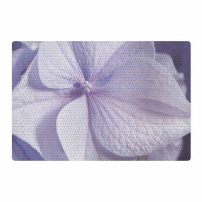 Suzanne Harford Hydrangea Flower Lavender Pastel Purple Area Rug Rug Size: 2 x 3