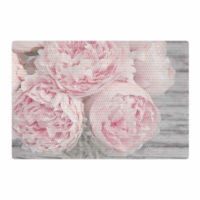 Suzanne Harford Peony Flowers Photography Pink Area Rug Rug Size: 4 x 6