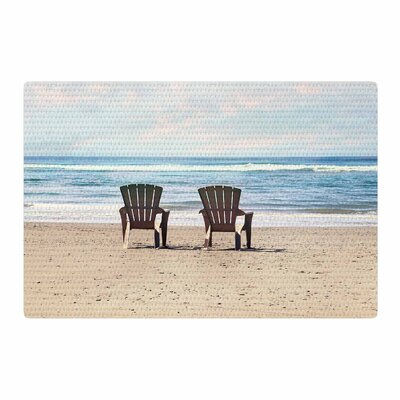 Sylvia Cook A Great View Travel Blue Area Rug Rug Size: 4 x 6
