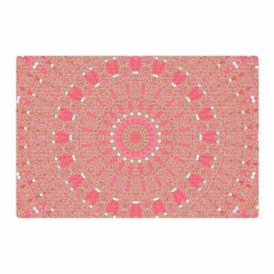 Sylvia Cook Boho Hearts Coral Pink/Orange Area Rug Rug Size: 4 x 6
