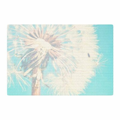 Sylvia Coomes Dandelion Photography Floral Aqua Area Rug Rug Size: 2 x 3