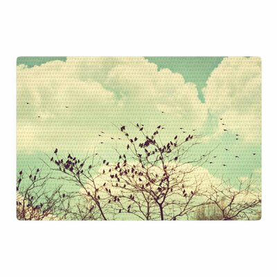 Sylvia Coomes Birds of a Feather Green/Brown Area Rug Rug Size: 2 x 3