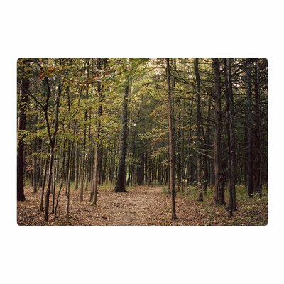 Sylvia Coomes Forest Trees Green/Brown Area Rug Rug Size: 2 x 3