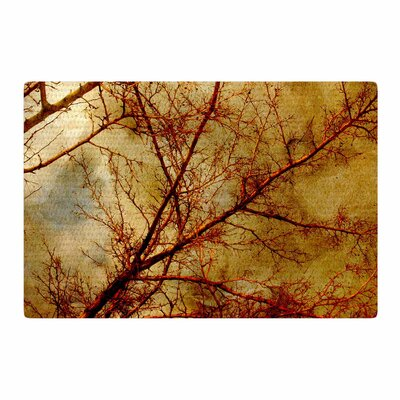 Sylvia Coomes Gothic Tree Red/Gold/Nature Area Rug Rug Size: 2 x 3