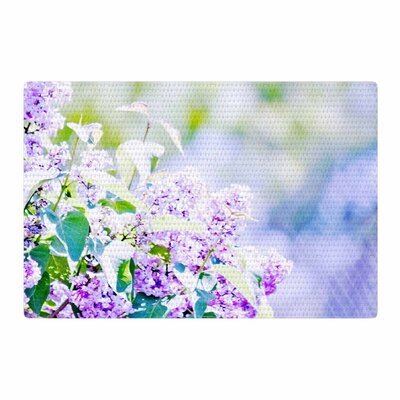 Sylvia Coomes Hazy Flowers Lavender/Nature Area Rug Rug Size: 4 x 6