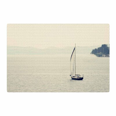 Sylvia Coomes Hazy Sea Travel Blue Area Rug Rug Size: 4 x 6