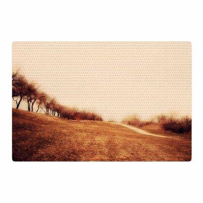 Sylvia Coomes Minimalist Autumn Landscape Brown/Beige Area Rug Rug Size: 2 x 3