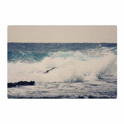 Sylvia Coomes Ocean 1 Coastal Blue Area Rug Rug Size: 4 x 6