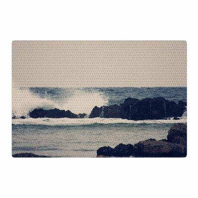 Sylvia Coomes Ocean 2 Coastal White/Blue Area Rug Rug Size: 4 x 6