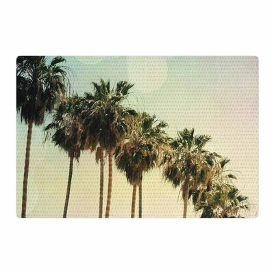 Sylvia Coomes Palm Trees Coastal Photography Green/Pink Area Rug Rug Size: 4 x 6