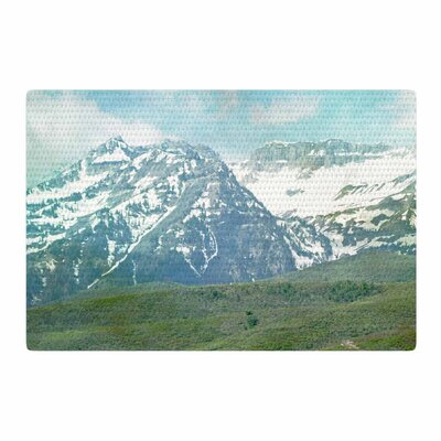 Sylvia Coomes Mountains Blue/Nature/Pastel Area Rug Rug Size: 2 x 3