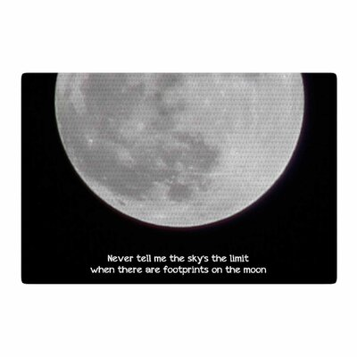 Sylvia Coomes The Moon Black/White Area Rug Rug Size: 2 x 3
