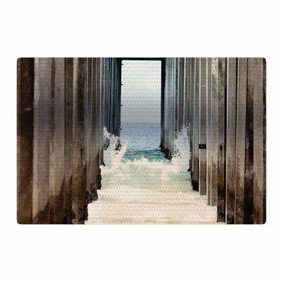Sylvia Coomes Under the Pier Blue/Brown Area Rug Rug Size: 4 x 6