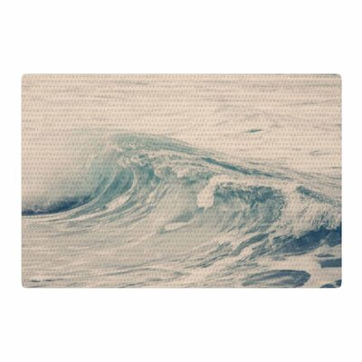 Sylvia Coomes Waves 1 Coastal Blue Area Rug Rug Size: 4 x 6