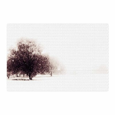 Sylvia Coomes Winter Landscape Maroon White Area Rug Rug Size: 4 x 6