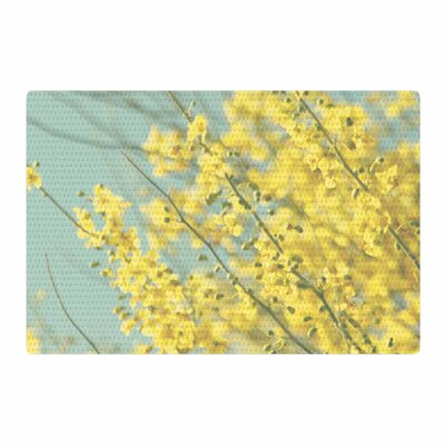 Sylvia Coomes Blooms Yellow/Blue Area Rug Rug Size: 2 x 3