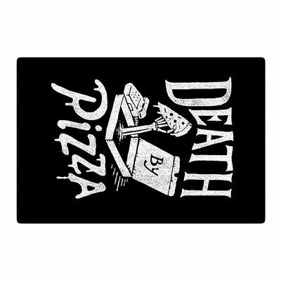 Tatak Waskitho Death by Pizza Food Black Area Rug Rug Size: 2 x 3