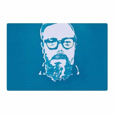 Theresa Giolzetti Hello World Dennis Ritchie Blue/White Area Rug Rug Size: 2 x 3