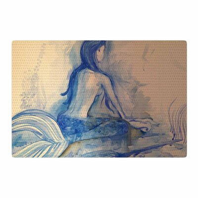 Theresa Giolzetti Mer-Maid Huh Gray/Coral Area Rug Rug Size: 2 x 3