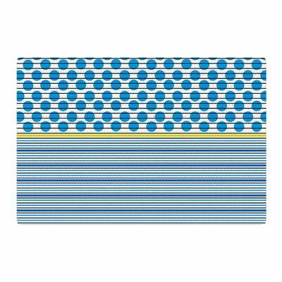 Trebam Bazen Blue/Yellow Area Rug Rug Size: 2 x 3