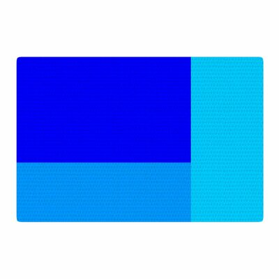 Trebam Bluz V.3 Geometric Blue Area Rug Rug Size: 2 x 3