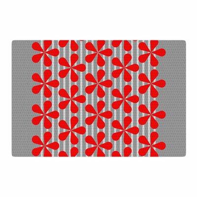 Trebam Crvena Red/Gray Area Rug Rug Size: 4 x 6