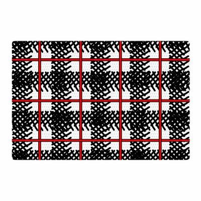 Trebam Kariran Red/Black Area Rug Rug Size: 2 x 3