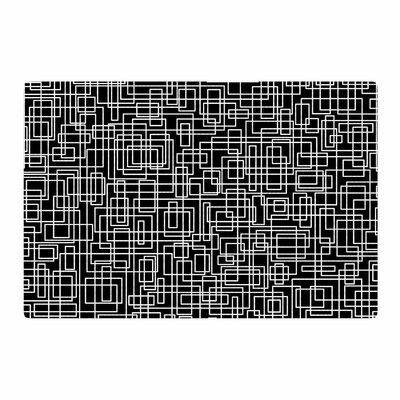 Trebam Komada V.2 Balck/White Area Rug Rug Size: 2 x 3