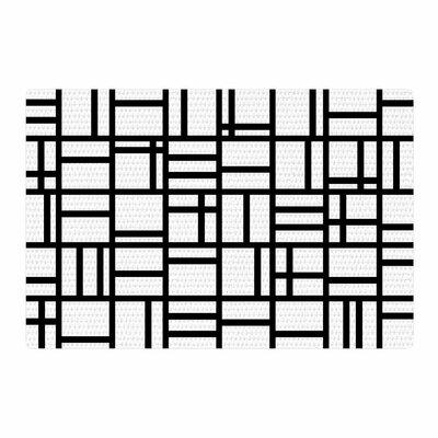 Trebam Kutije V.2 Black/White Area Rug Rug Size: 2 x 3