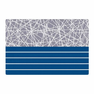 Trebam Odvojen Abstract Blue Area Rug Rug Size: 4 x 6