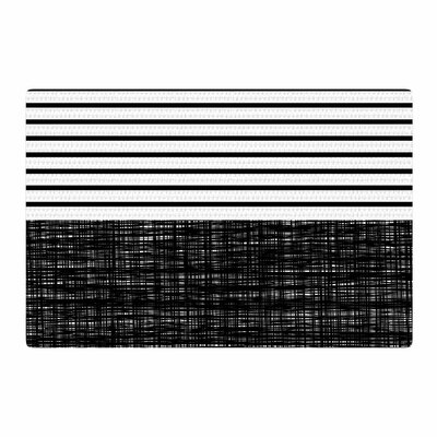 Trebam Platno Stripes Black/White Area Rug Rug Size: 4 x 6