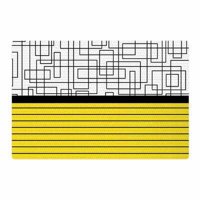 Trebam Pola V.2 Tags Black/Whitte/Yellow Area Rug Rug Size: 2 x 3