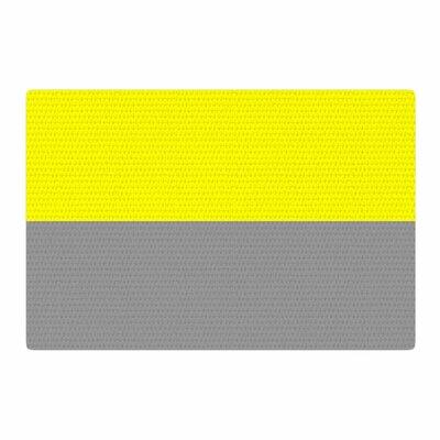Trebam Polovina V.5 Yellow/Gray Area Rug Rug Size: 4 x 6
