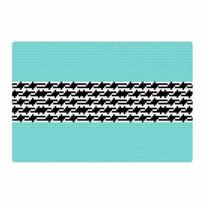 Trebam Pruga Teal/Black Area Rug Rug Size: 2 x 3