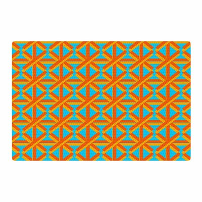 Trebam Topao Teal/Orange Area Rug Rug Size: 2 x 3