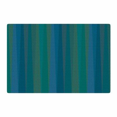 Trebam Trokuti V.2 Green/Blue Area Rug Rug Size: 2 x 3