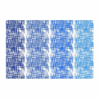 Trebam Visina V.3 Blue/White Area Rug Rug Size: 4 x 6
