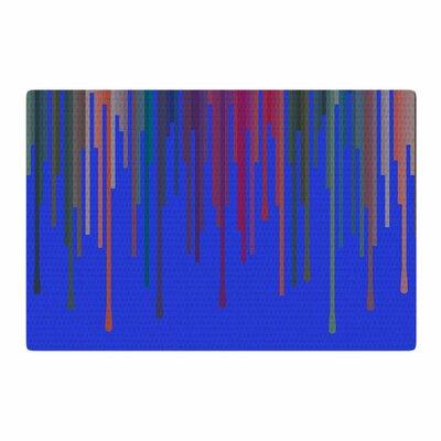Trebam Vosak Blue/Red Area Rug Rug Size: 2 x 3