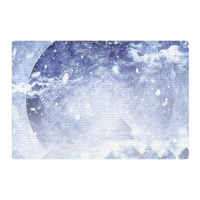 Ulf Harstedt Even Mountains Get Cold Blue/White Area Rug Rug Size: 2 x 3