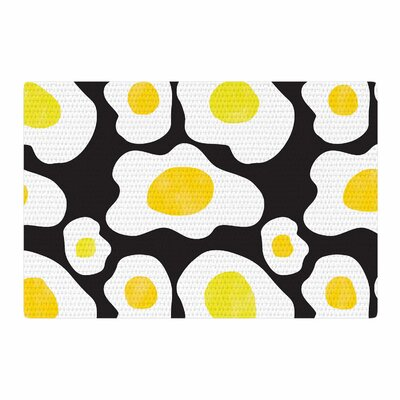 Vasare Nar Fried Eggs Pattern Pop Art Yellow Area Rug Rug Size: 4 x 6