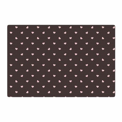 Vasare Nar Hearts and Love Digital Gray/Pink Area Rug Rug Size: 2 x 3