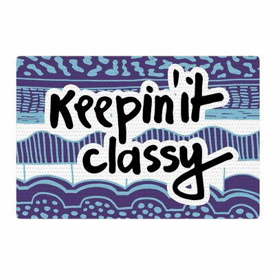 Vasare Nar Keepin It Classy Typography Purple Area Rug Rug Size: 2 x 3