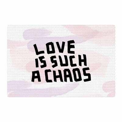 Vasare Nar Love is Such a Chaos Pink/Pastel Area Rug Rug Size: 4 x 6