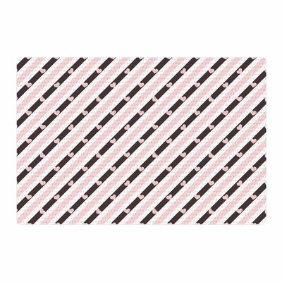 Vasare Nar Stripe Heart Love Pink Area Rug Rug Size: 4 x 6