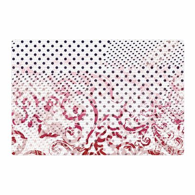 Victoria Krupp Mixing Dots Digital Red Area Rug Rug Size: 4 x 6